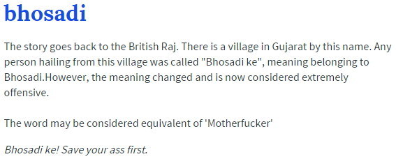 Here's What These 18 Hindi Gaalis Mean According To Urban Dictionary