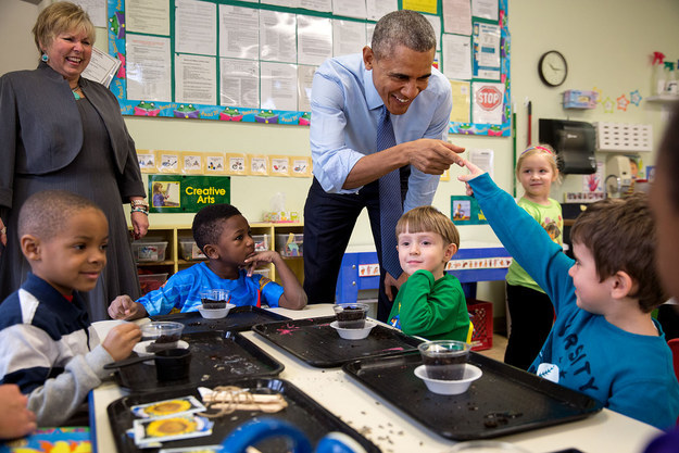 But there's something pretty cool about seeing the commander-in-chief lose his cool around kids.