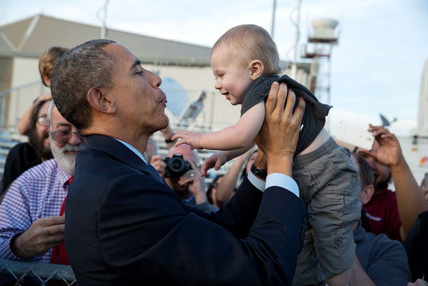 Naturally, when you're a politician you have to kiss a lot of babies...