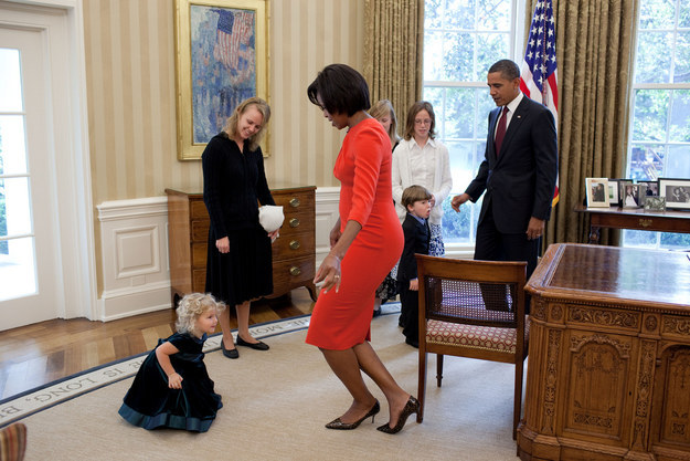 Of course, we should take a moment to recognize that the first lady is also amazing with kids.