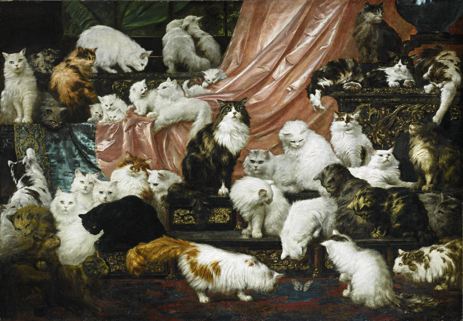This Painting Of 42 Cats Is Expected To Reach Nearly £200,000 At Auction