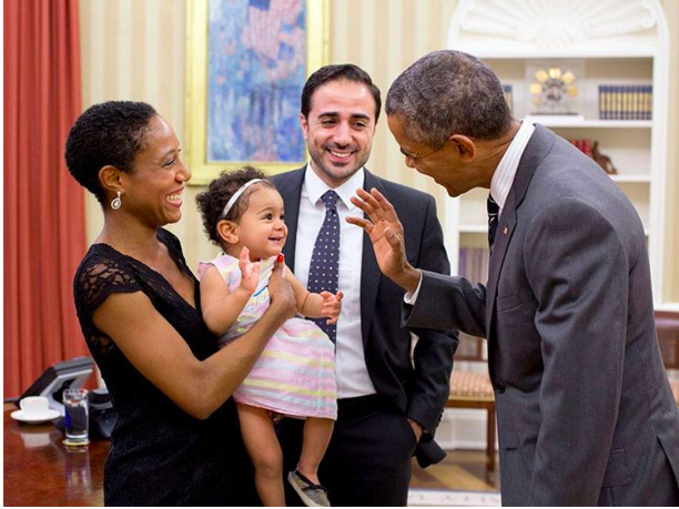 In photo after photo, Obama just loses it when he meets kids.