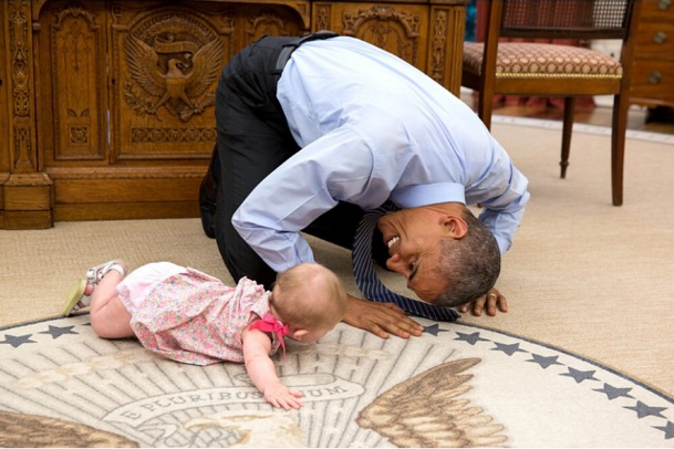 It's not the first time Ella's cuteness has floored the president.