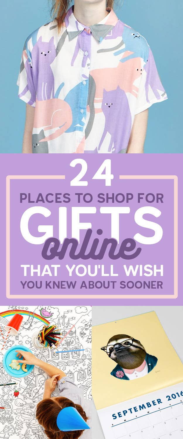 24 Places To Shop For Gifts Online That Youll Wish You Knew About