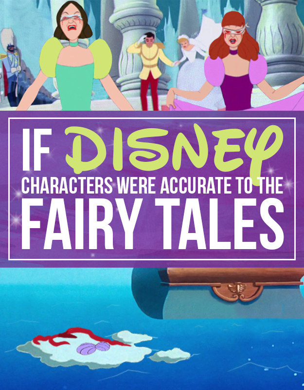 If Disney Characters Looked More Accurate To The Fairy Tales