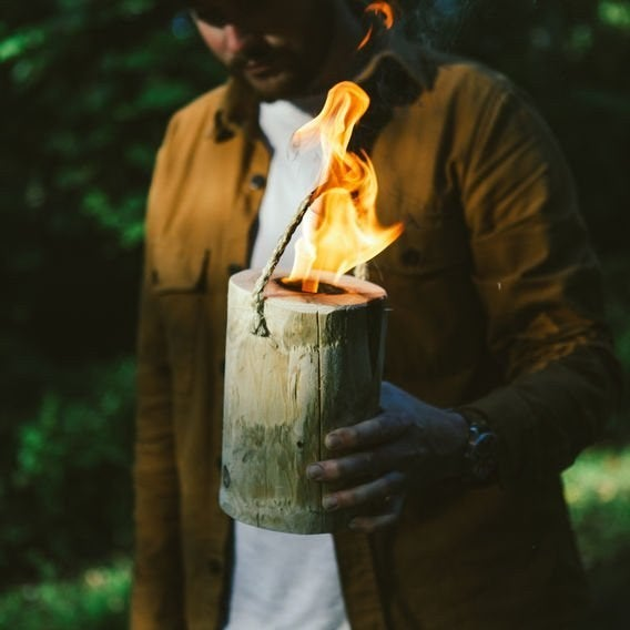 Each log burns from the inside out for up to 90 minutes of compact fire, which makes it perfect for cooking hotdogs over a campfire. Get it here ($20.98).