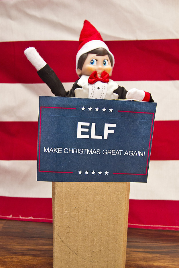 31 elf on the shelf ideas guaranteed to win christmas for Elf shelf craft show