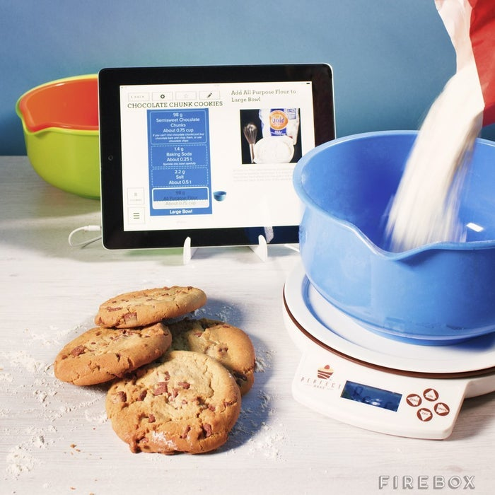 The Perfect Bake's step-by-step in-app guides mean no more measuring or counting. Just use the included bowl and start adding ingredients to the connected scale, then the app will tell you when to stop. There are also three timers (for baking, mixing, and cooling) that are pre-set so you can finish your baked goods as efficiently as possible.