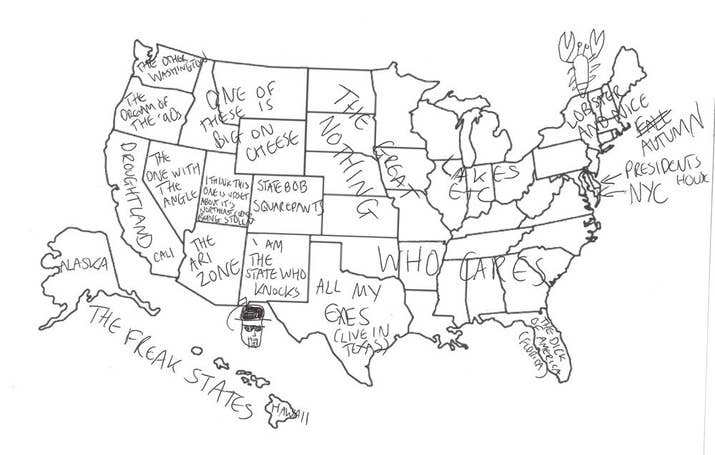 Brits Try And Fail To Label The United States Because Its A - Buzzfeed uk map of us