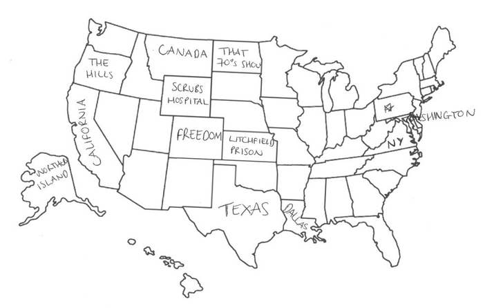 Brits Try And Fail To Label The United States Because Its A - Brits label us map 2015