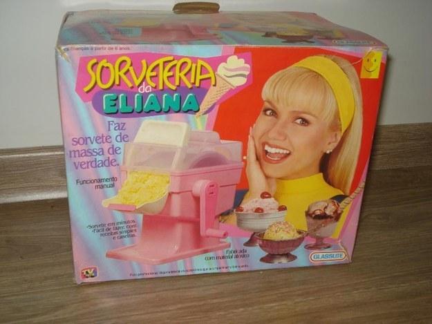 Não contente, a Eliana ainda tinha a sua própria sorveteria.