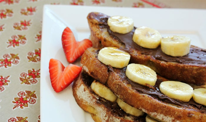 Okay, now that you've seen the healthy version of French Toast, you need to know about this deliciously decadent version. Find the recipe here.Key Trader Joe's Ingredients:— TJ's Artisan Bread— TJ's Cocoa Almond Spread— TJ's Maple Syrup