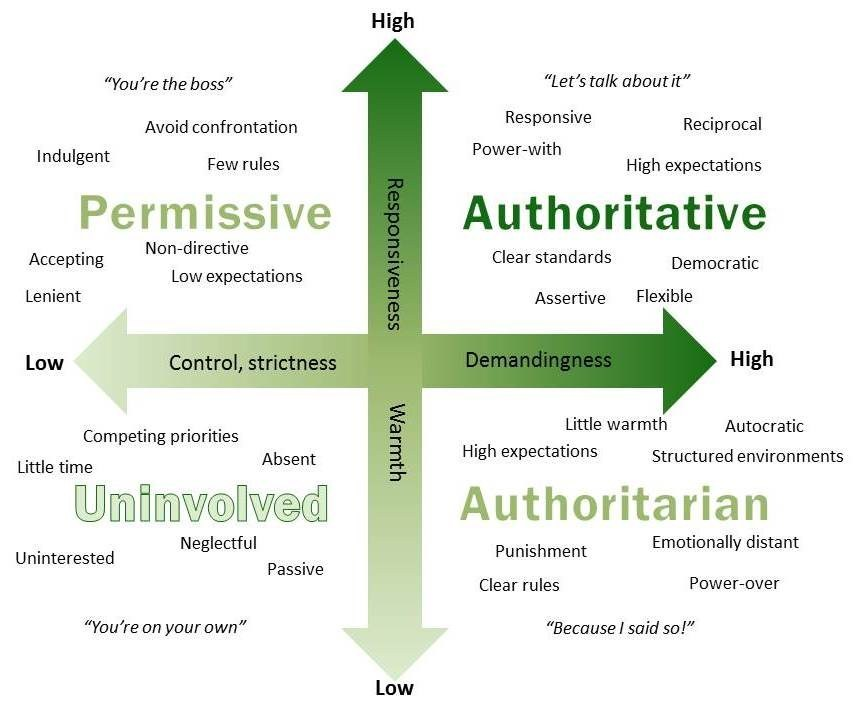 authoritarian vs. permissive parenting essay How to find a middle ground between the authoritarian parent (strict parenting) and permissive parent (permissive parenting) help for parents to find the best parenting style a parent writes, one of our family's big challenges is the ongoing debate between my husband and i over how strict vs how lenient we should be.