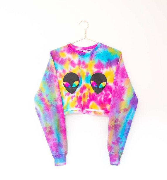 Nude Tie Dye Crop Sweater Wild Rina