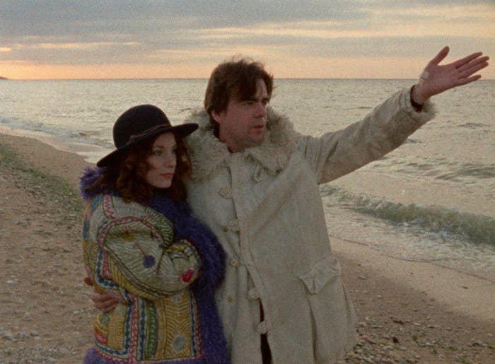 Bernadette Lafont as Sarah and Michael Lonsdale as Thomas.