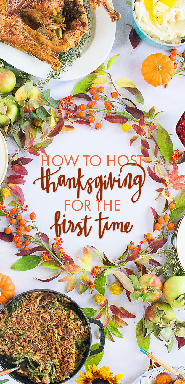 How to host thanksgiving for the first time ever