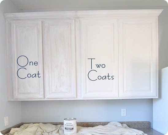 Adding new cabinetry can be super expensive, but a couple coats of new paint can make an outdated kitchen look much more modern and clean. See how to do it here.