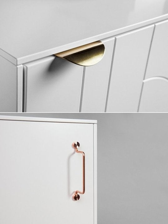 Swapping out generic or older cabinet handles can make a kitchen look completely different. This company makes new handles that even fit IKEA cabinets.