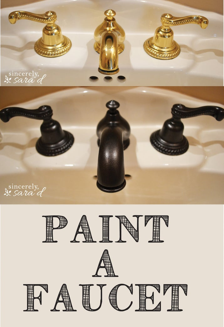 Door knobs, faucets and locks are all fairly cheap to paint to make them look brand new. Check out this great tutorial here.