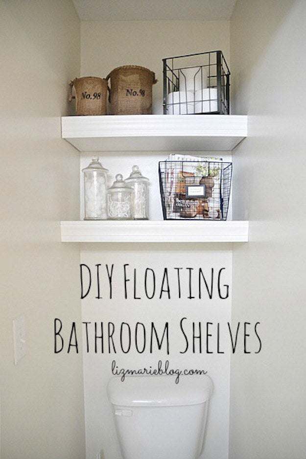 Hidden storage might be good for living in a home, but buyers want to SEE a lot of storage space without having to open everything. A few extra shelves in a blank space can make a big difference. See how to easily add some floating shelves to a tiny bathroom here.