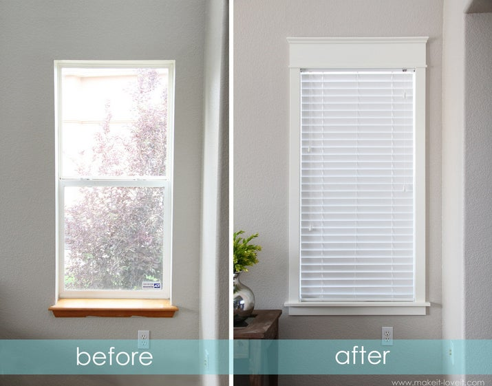 Make windows look larger by adding molding and a new apron. See how here.