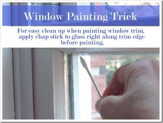 Most builder-grade windows are dark inside, sometimes even black. Painting the interior frames and transoms will make the window look bigger and more modern. See how to do it here.