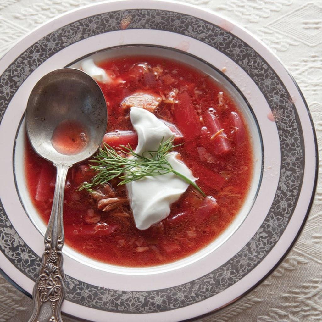Холодный борщ рецепт классический пошагово