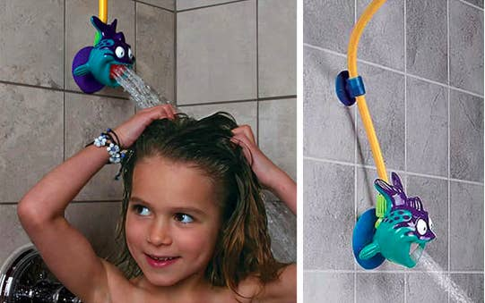 Make showering easier for kids with this adjustable shower head.