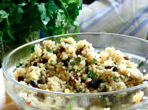 Warm Quinoa Salad with Cumin Lime Vinaigrette