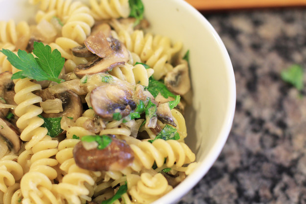 Creamy Mushroom Rotini