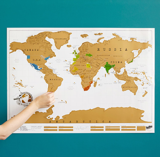 Or go for a fun scratch-off travel map to keep track of your adventures.