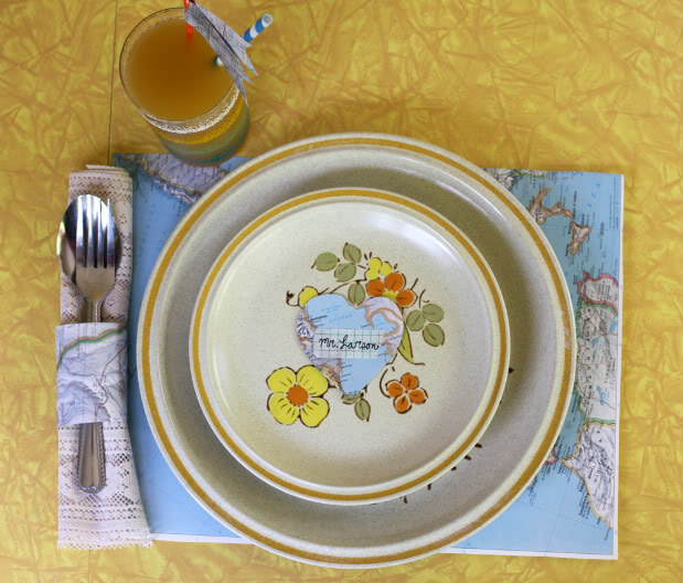 You can also take 5 minutes and turn your map into a placemat.