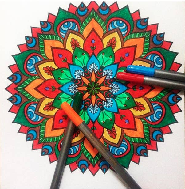 I Have Found That Taking 15 20 Minute Breaks To Color A Mandala Picture