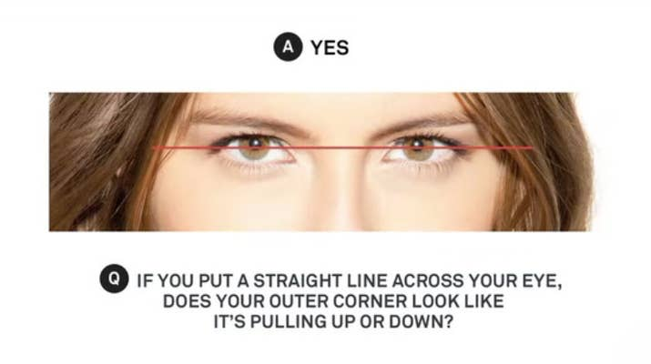 13 makeup tips every person with hooded eyes needs to know if you do draw a straight line across your eyes and see if the outer corners pull up or down ccuart Gallery