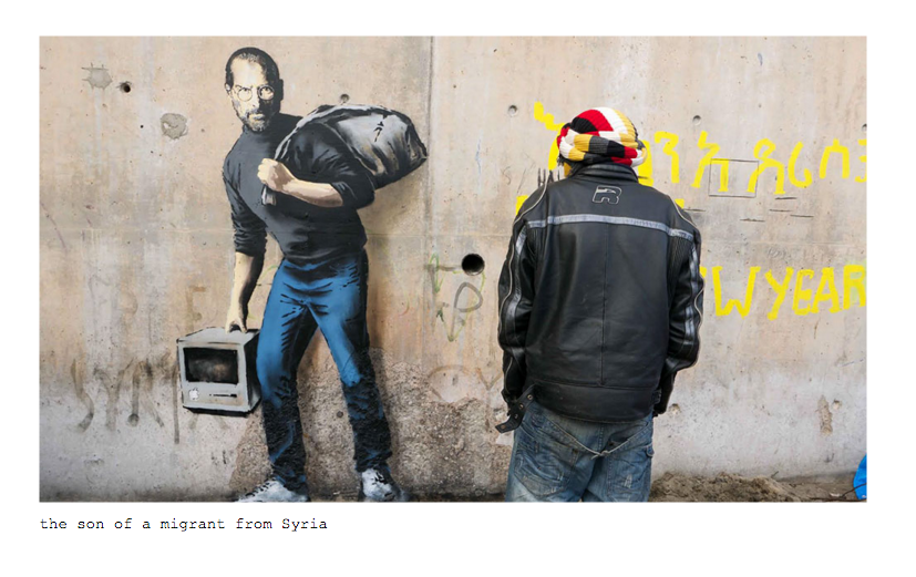 Banksy Has Painted A New Picture Of Steve Jobs To Celebrate Refugees