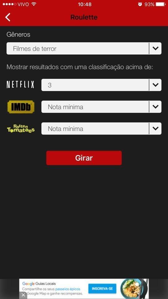 Netflix roulette brasil