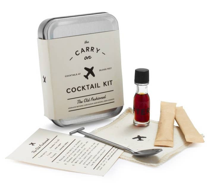 Take your craft cocktails on the plane with you with these fancy kits in flavors like Old Fashion, Moscow Mule, and Gin and Tonic. These bijou little kits will make any flight more enjoyable.$24 per kit at Sur La Table