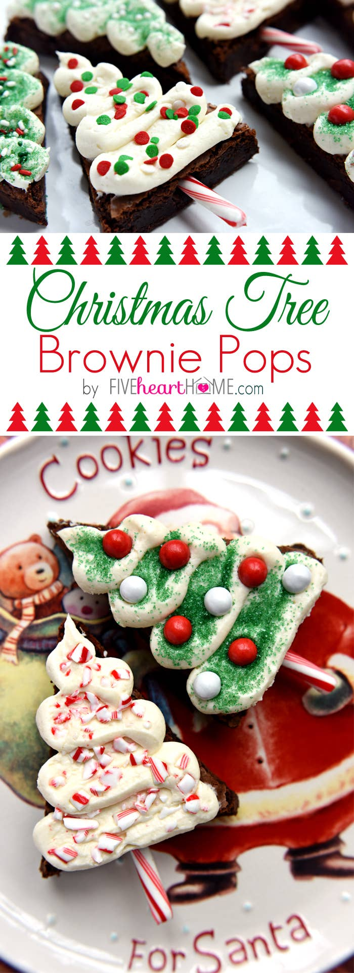 19 amazingly cute ideas for christmas treats that you can actually make christmas tree brownie pops i am legit obsessed with how cute these are get the recipe here solutioingenieria Images