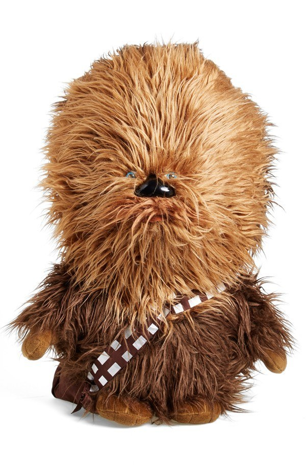 A cuddly plush talking Chewbacca