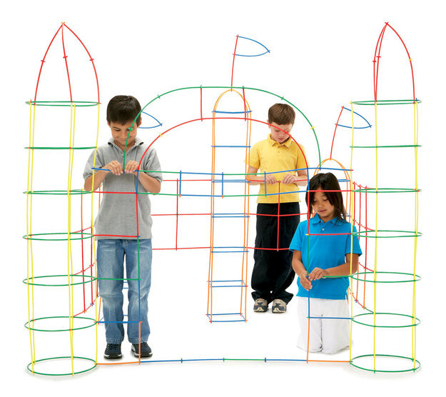 And a set of sturdy plastic straws you can use to build a fort.
