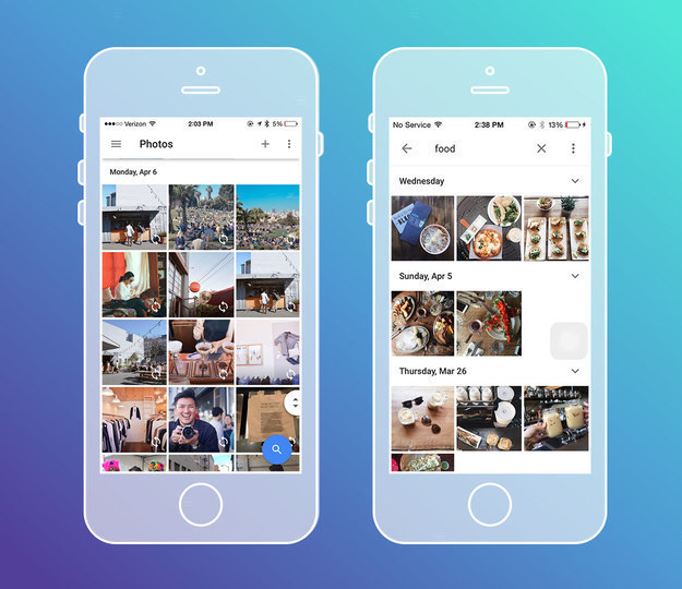 Google Photos (free, iOS, Android, web) is the ultimate photo search tool.