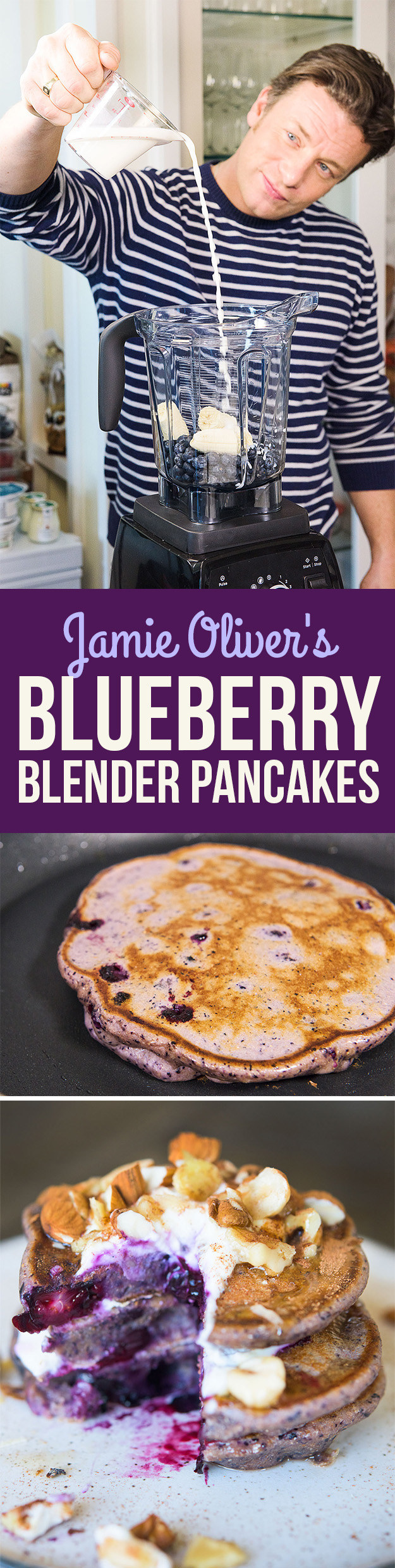 Heres How Jamie Oliver Turns A Healthy Smoothie Into Pancakes