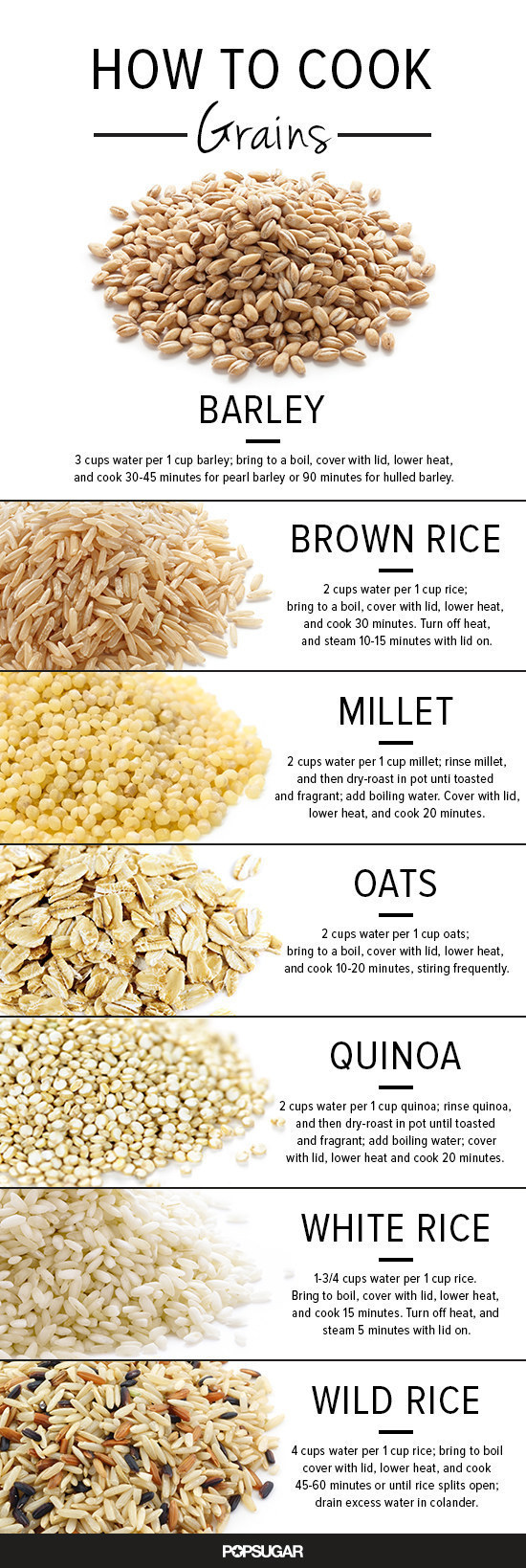 For getting perfect grains every time: