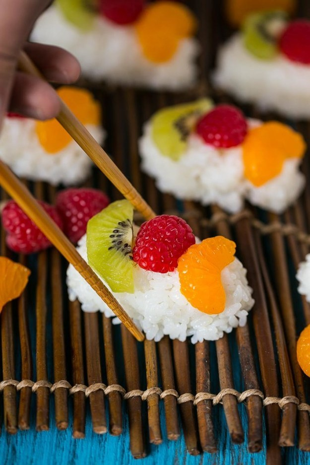 When it went and got all into fruit and demanded everyone call it FRUSHI because how fabulous.