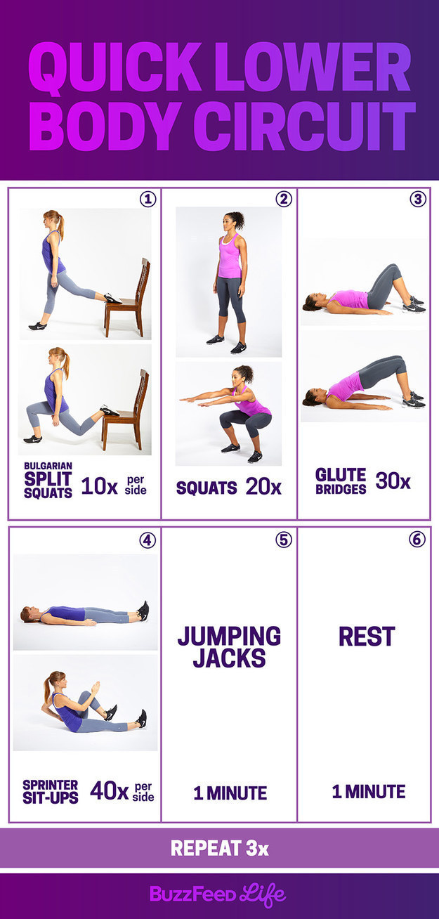 Monday Workout Quick Lower Body Circuit