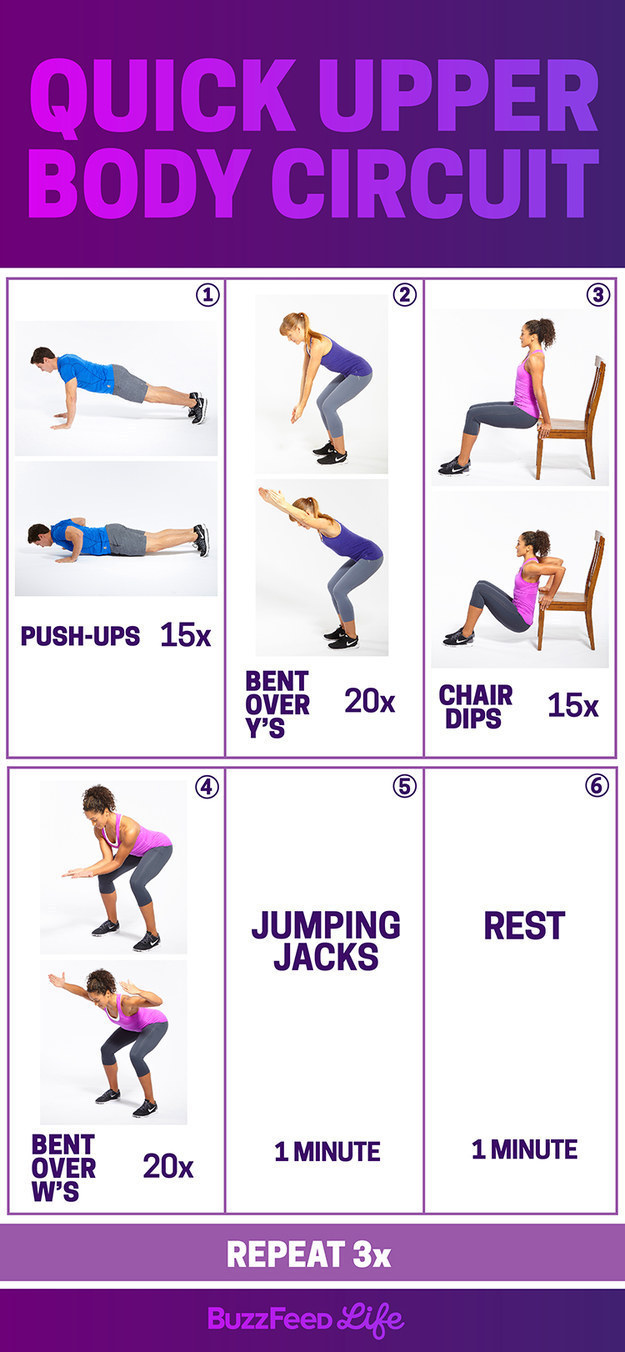 Friday Workout Quick Upper Body Circuit