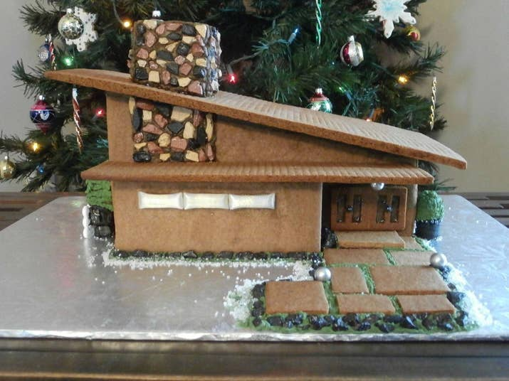 17 Mid Century Modern Gingerbread Houses