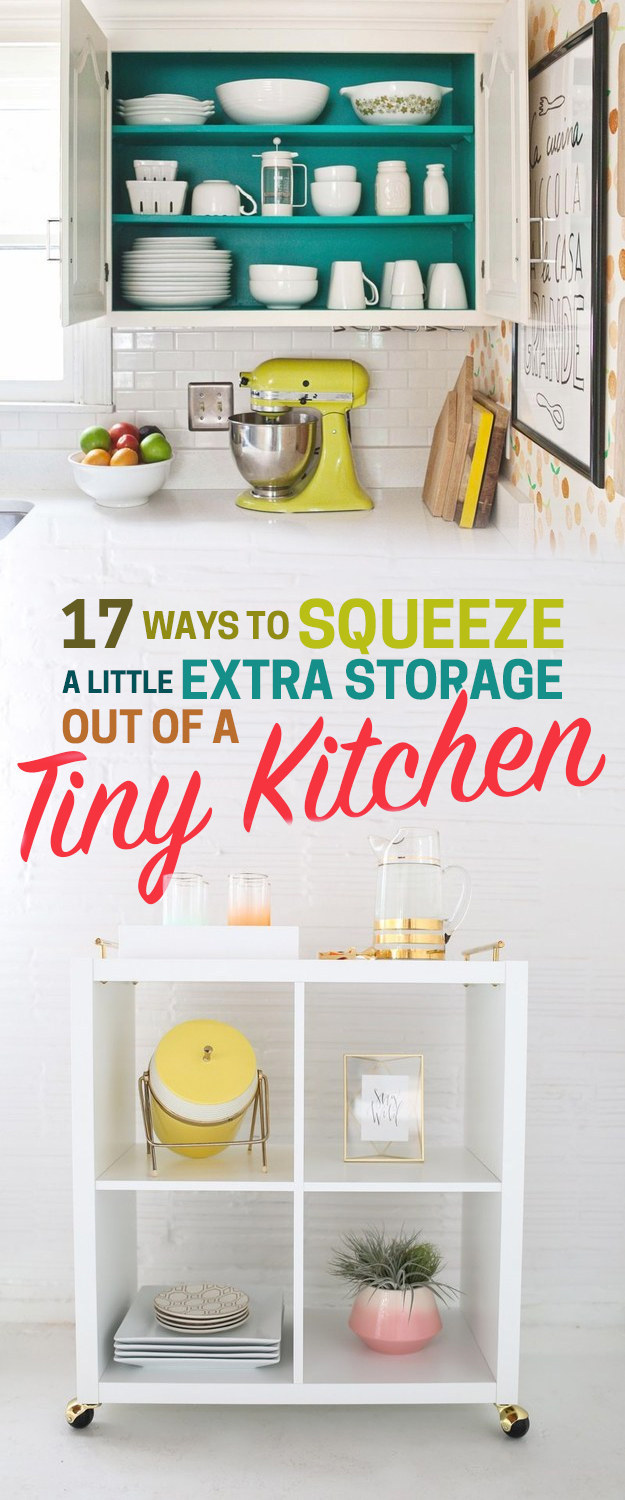 Creative Storage For Small Kitchens 17 Ways To Squeeze A Little Extra Storage Out Of A Tiny Kitchen