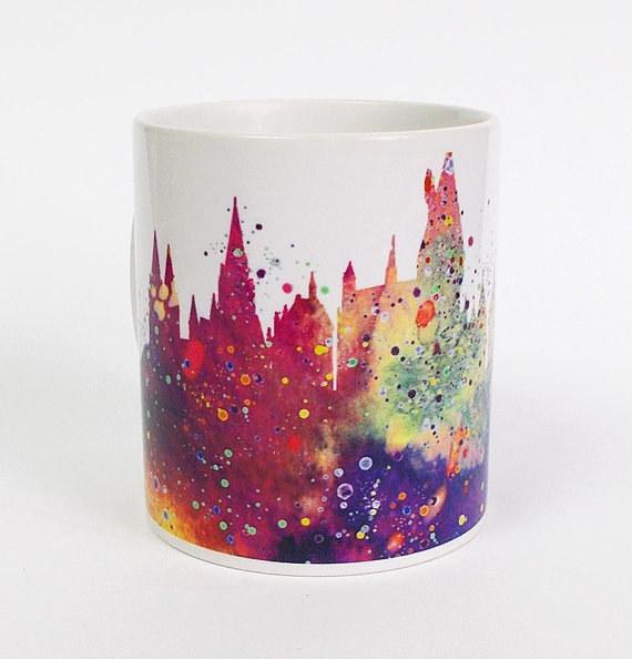 Hogwarts Watercolor Mug