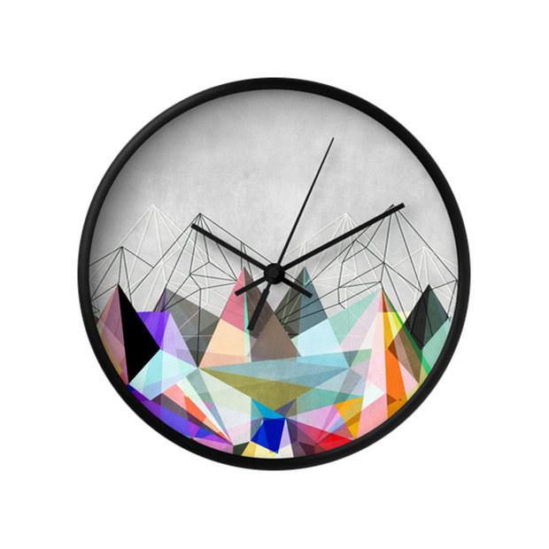 clock geometric look patterns designs decor